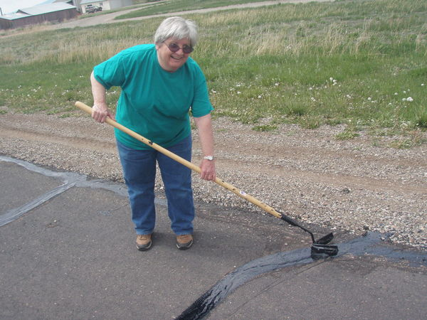Crack Sealing - still smiling towards the end of day
